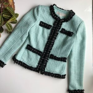 Boston Proper Parisian Blazer Jacket Tiffany Blue